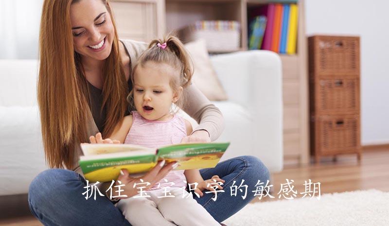 抓住宝宝识字的敏感期