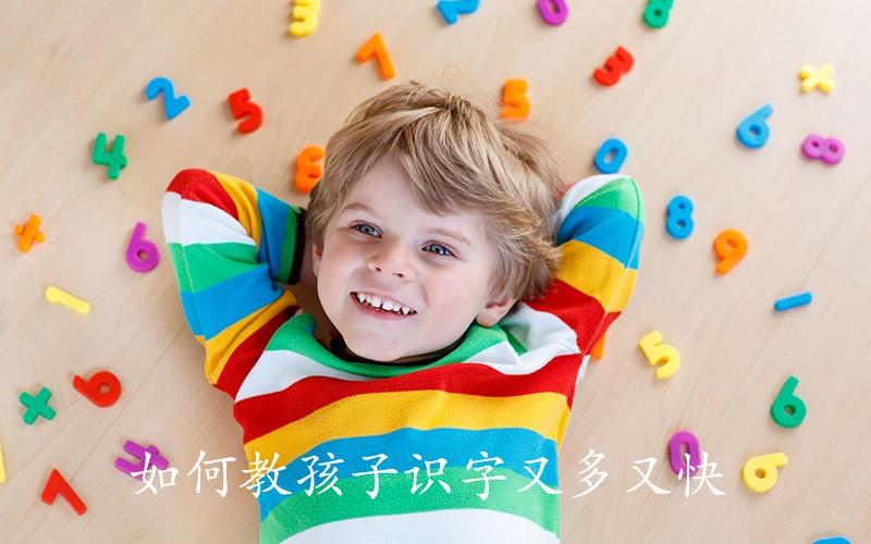 如何教孩子识字又多又快,不妨用儿童右脑识字