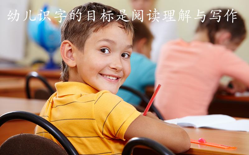 识字量不是目的,幼儿识字的目标是阅读理解与写作