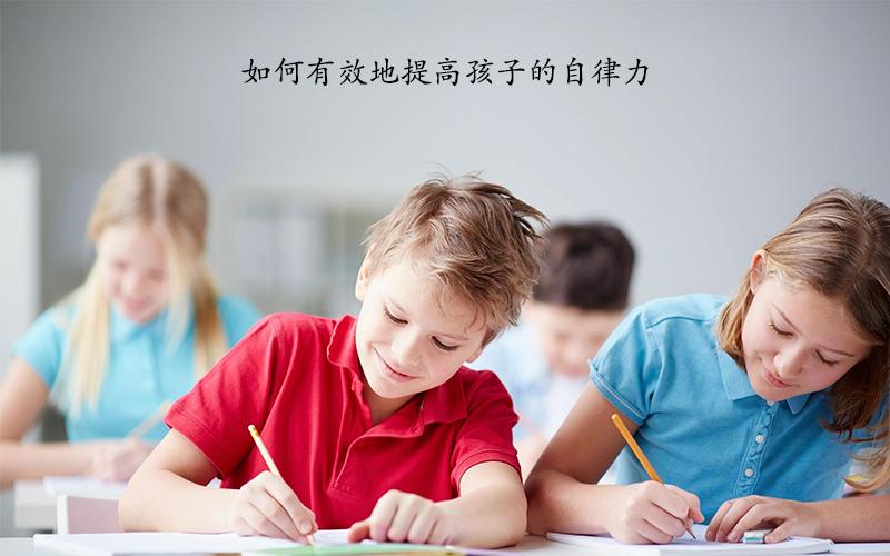 如何有效地提高孩子的自律力