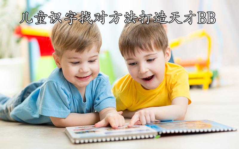 再也不用花钱给孩子报班,儿童识字找对方法打造天才BB