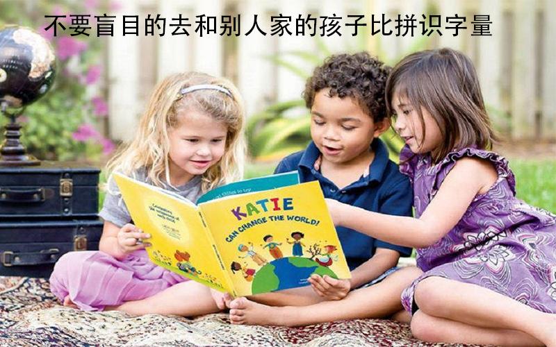 不要盲目的去和别人家的孩子比拼识字量