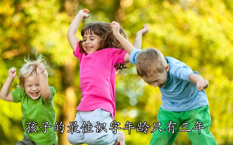 孩子的最佳识字年龄只有三年